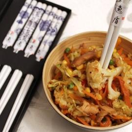 Стир-фрай с курицей и овощами