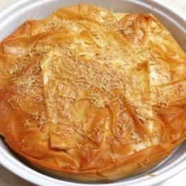Рыбный пирог с тестом фило