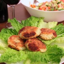 Картофельные крокеты с лососем