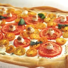 Тарт с помидорами и рикоттой