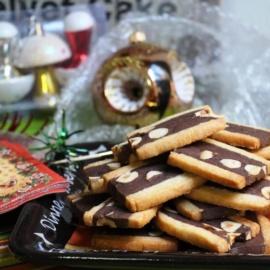 Насыщенное шоколадное печенье сабле с фундуком
