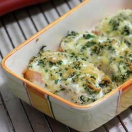 Запеченный лосось со сливочным сыром
