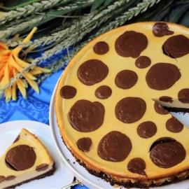 Творожно-шоколадный торт «Полька дот»