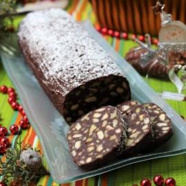 Шоколадная колбаса, бабушкин рецепт