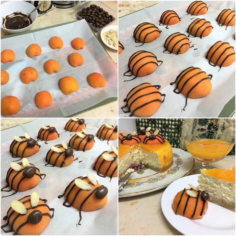 """Творожный торт с абрикосами """"Пчелки"""""""