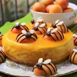 Творожный торт с абрикосами «Пчелки»