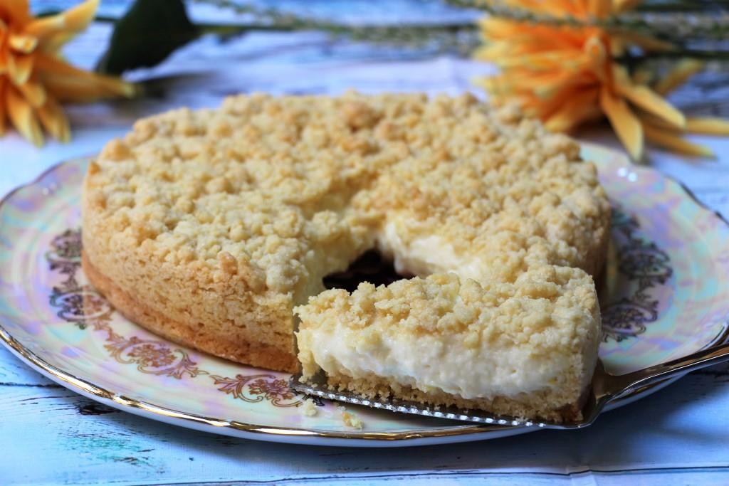 Насыпной пирог с кремом патисьер (Sbriciolata alla crema pasticcera)