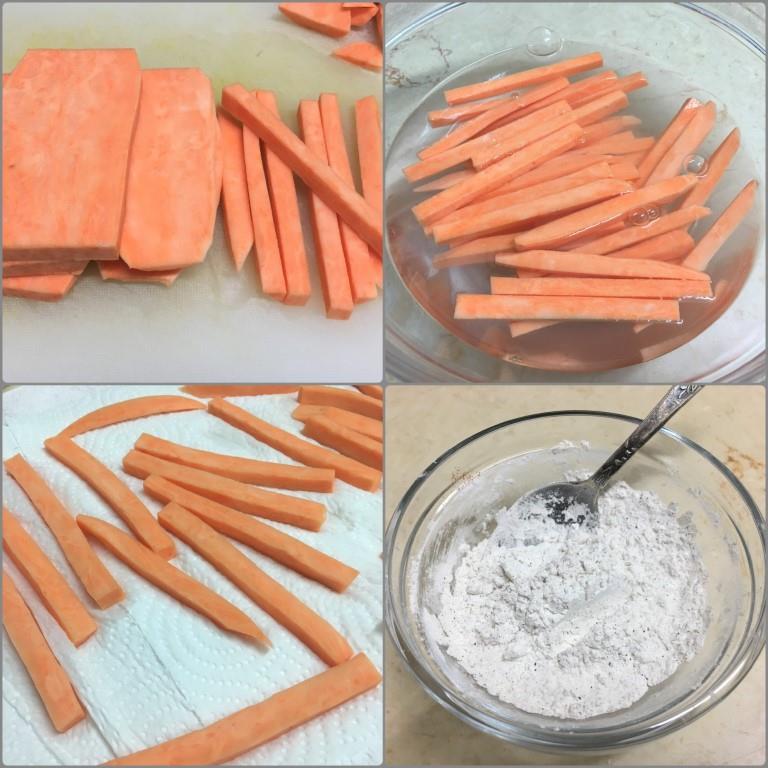Чипсы из батата, два способа приготовления