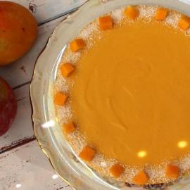 Манговый торт без выпечки