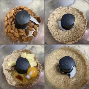 Галета с ревенем и ореховым кремом