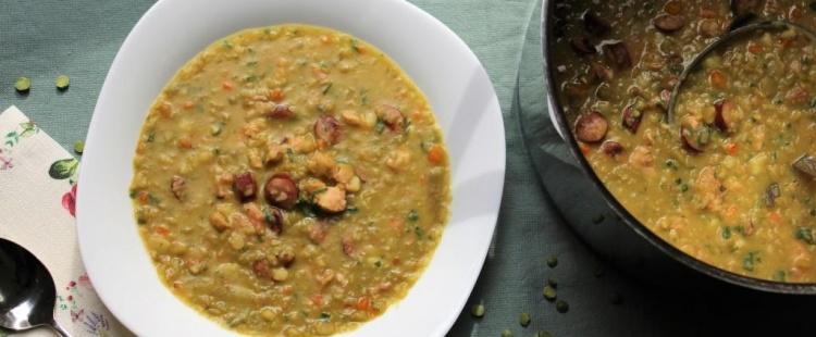 Гороховый суп с копченым мясом